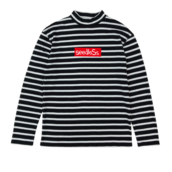 sd boarder high neck LS tee