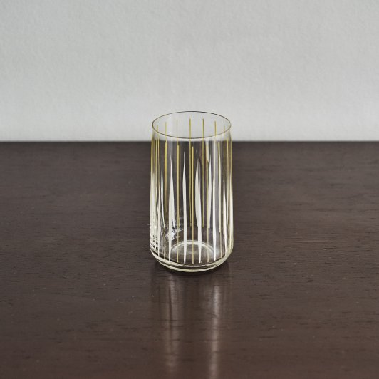 Glass Cup Striped Clear