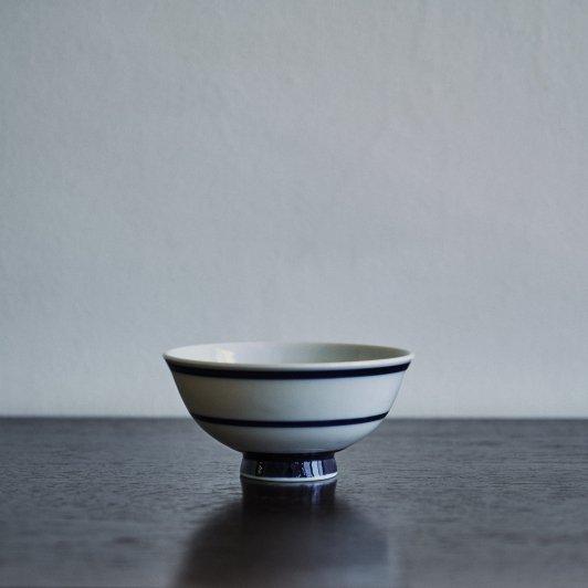 昭和 めし碗 濃紺縞