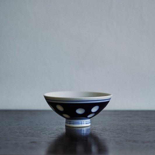 昭和 めし碗 水玉模様