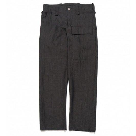 【SALE】Bergfabel<br>worker pants black blue herring bone
