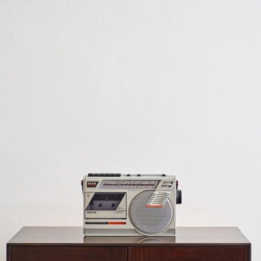 Vintage Philips D7152 radio cassette recorder