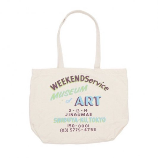 WeekendService Canvas Tote NATURAL A