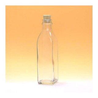 細口瓶(コルク栓・他) 角-200ml コルク栓