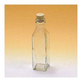 細口瓶(コルク栓・他) 角-120ml コルク栓