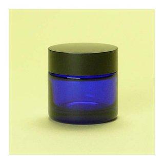 コスメ瓶(化粧品) クリーム瓶 青 30g
