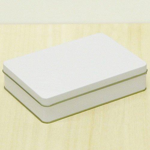 白ベタ材 角缶