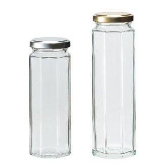 広口瓶(ツイスト) フレッシュ(8角)180 ツイスト