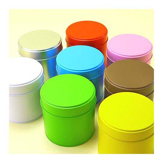 カラー丸缶 L