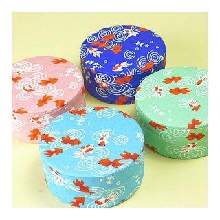 和紙缶・工芸缶 和紙チビ丸缶(金魚)