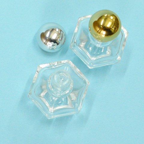 香水瓶 六角 4cc (金CAP)【画像2】