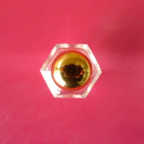 香水瓶 六角 4cc (金CAP)【画像5】
