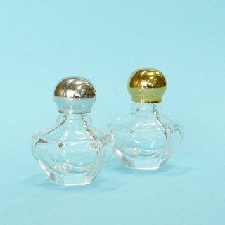コスメ瓶(化粧品) 香水瓶 六角 4cc (金CAP)