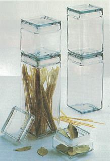 ガラスジャー・保存瓶 スクエアジャー