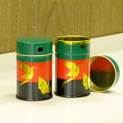 七味缶 3色鶴【画像2】