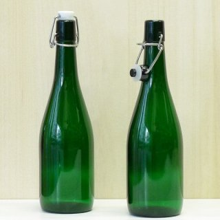 細口瓶(コルク栓・他) 機械栓瓶-720ml 緑