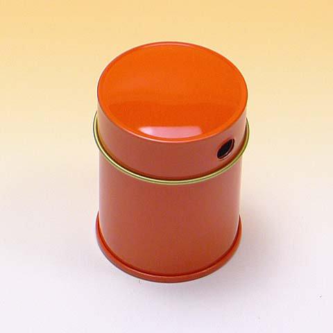 七味缶 φ43×H60 朱 (250缶)【画像3】