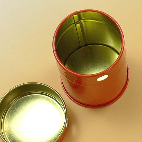 七味缶 φ43×H60 朱 (250缶)【画像4】