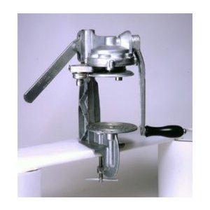 手動 缶詰缶巻き締め機械(2号缶用調整)