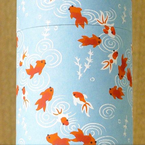 和紙茶缶 金魚(ミズイロ)