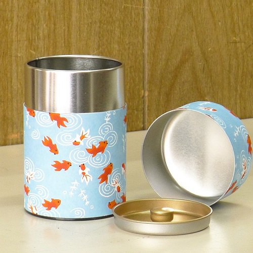 和紙茶缶 金魚(ミズイロ)【画像2】