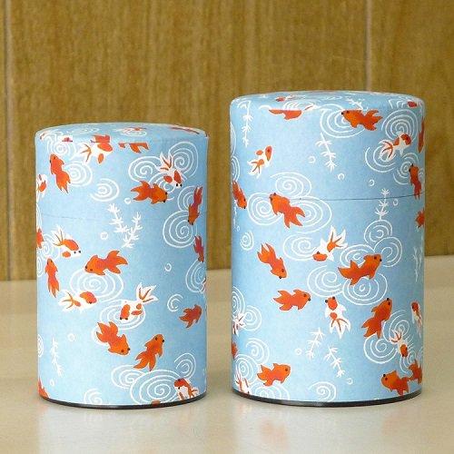和紙茶缶 金魚(ミズイロ)【画像3】