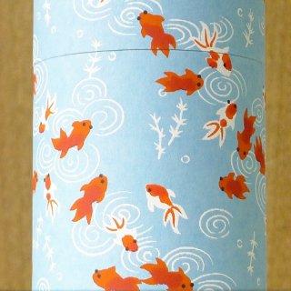和紙缶・工芸缶 和紙茶缶 金魚(ミズイロ)