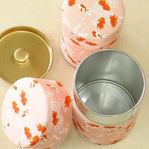 和紙茶缶 金魚(ピンク)【画像2】