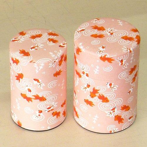 和紙茶缶 金魚(ピンク)【画像4】