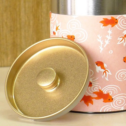 和紙茶缶 金魚(ピンク)【画像5】