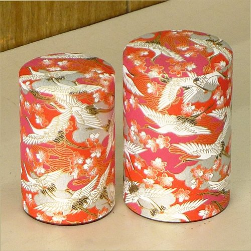和紙茶缶 光鶴(アカ)【画像4】