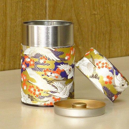和紙茶缶 光鶴(アオ)【画像2】