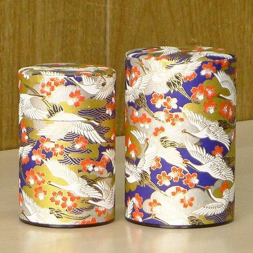 和紙茶缶 光鶴(アオ)【画像3】