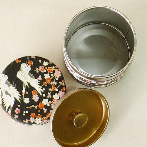 和紙茶缶 鶴(クロ)【画像5】