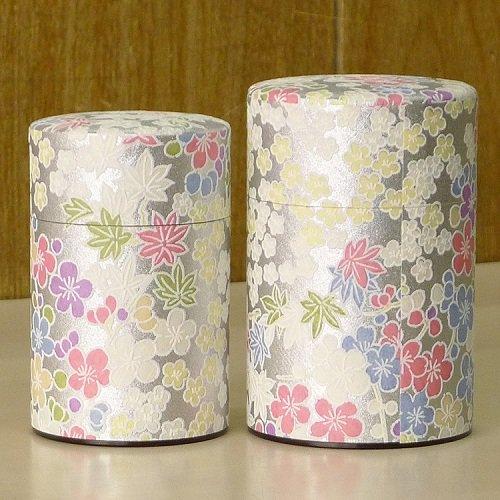 和紙茶缶 銀梅【画像2】