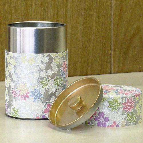和紙茶缶 銀梅【画像3】