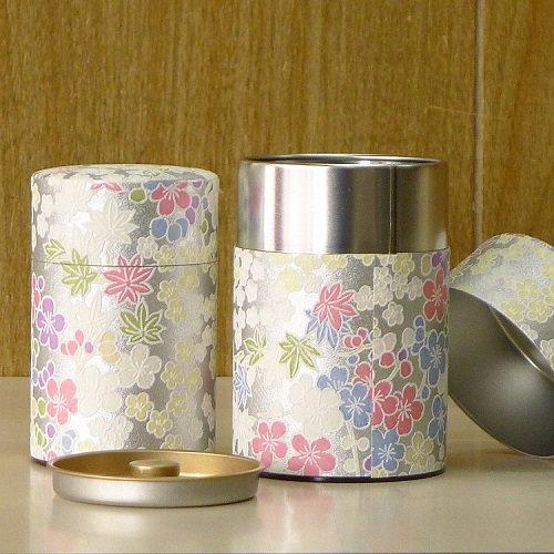 和紙茶缶 銀梅【画像4】