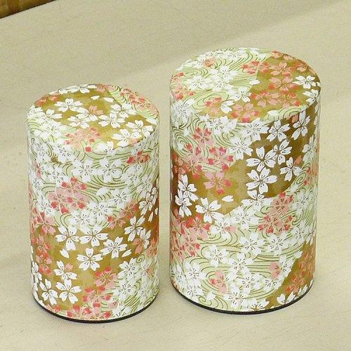 和紙茶缶 桜(薄ミドリ)【画像4】