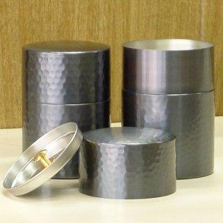 和紙缶・工芸缶 純銅製 茶筒