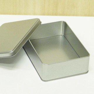 角缶 銀サテン材 角缶 124×80×H37