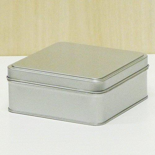 銀サテン材 角缶 (正方形)【画像2】