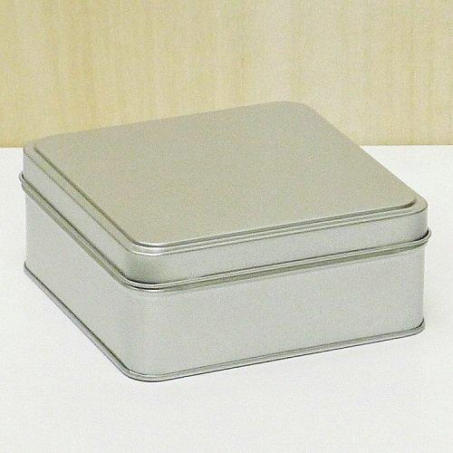 銀サテン材 角缶 (正方形)【画像3】