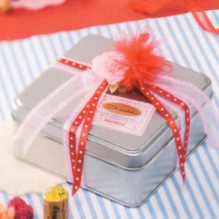 角缶 銀サテン材 角缶 124×124×H52