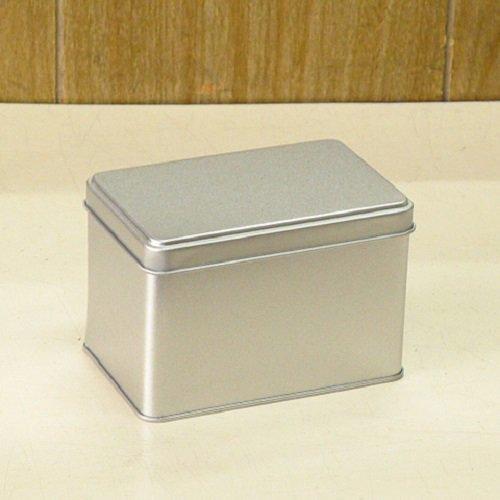 銀サテン材 角缶 (長型)