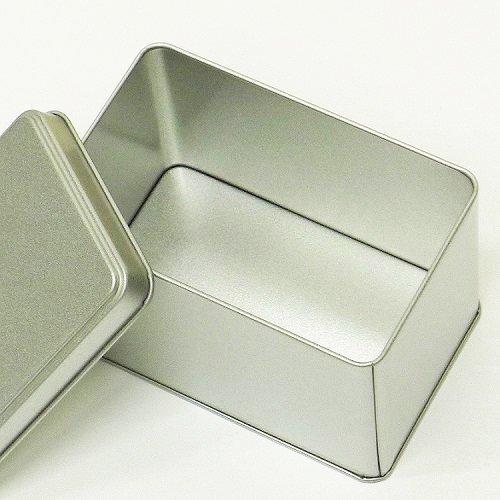 銀サテン材 角缶 (長型)【画像2】