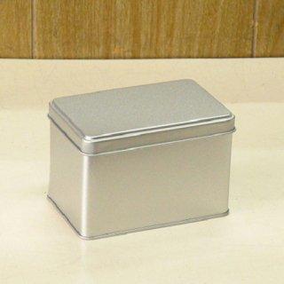 角缶 銀サテン材 角缶 124×80×H82