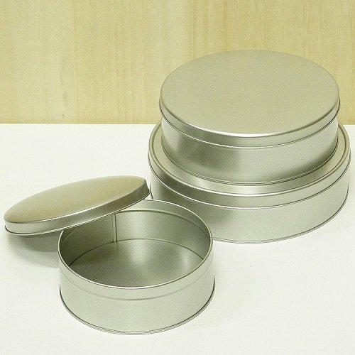 銀サテン材 平丸缶