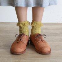 リネンコットンlacy靴下