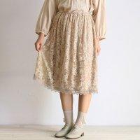 カメリアチュール刺繍スカート