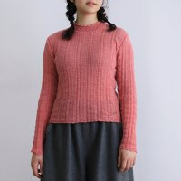 ウォッシャブルウール lacyハイネックセーター